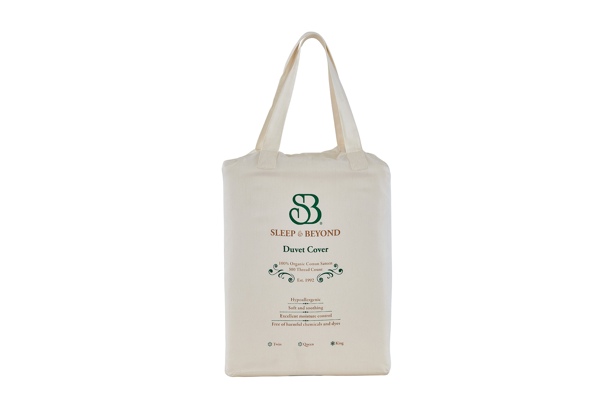 Organic Cotton Duvet Cover Packaging Front View
