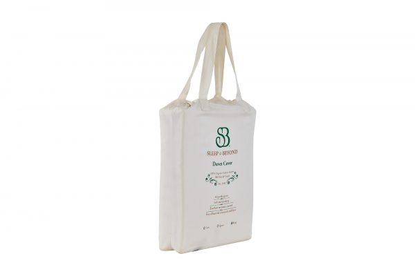 Organic Cotton Duvet Cover Packaging Side View