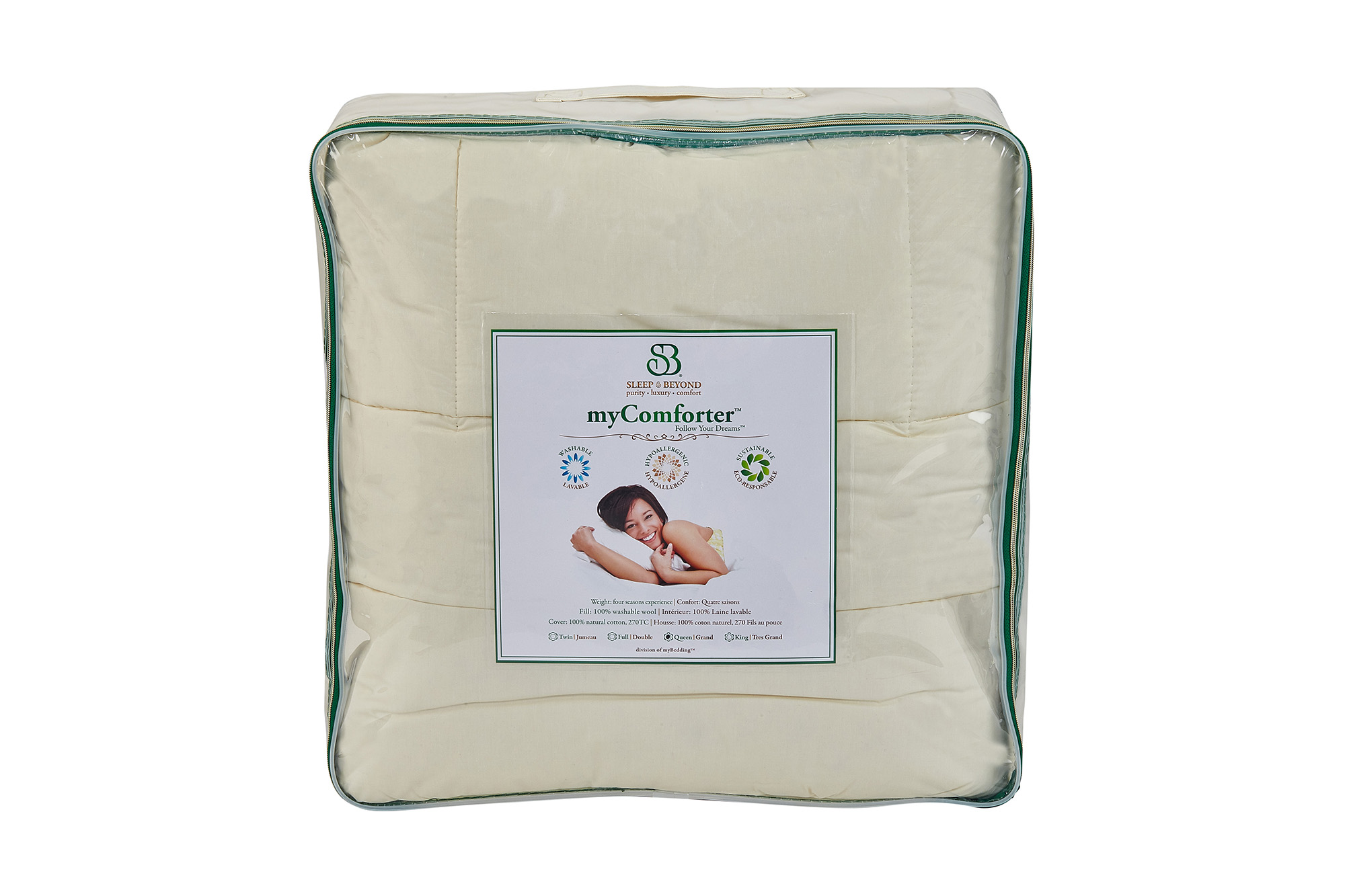 myComforter Front Packaging View