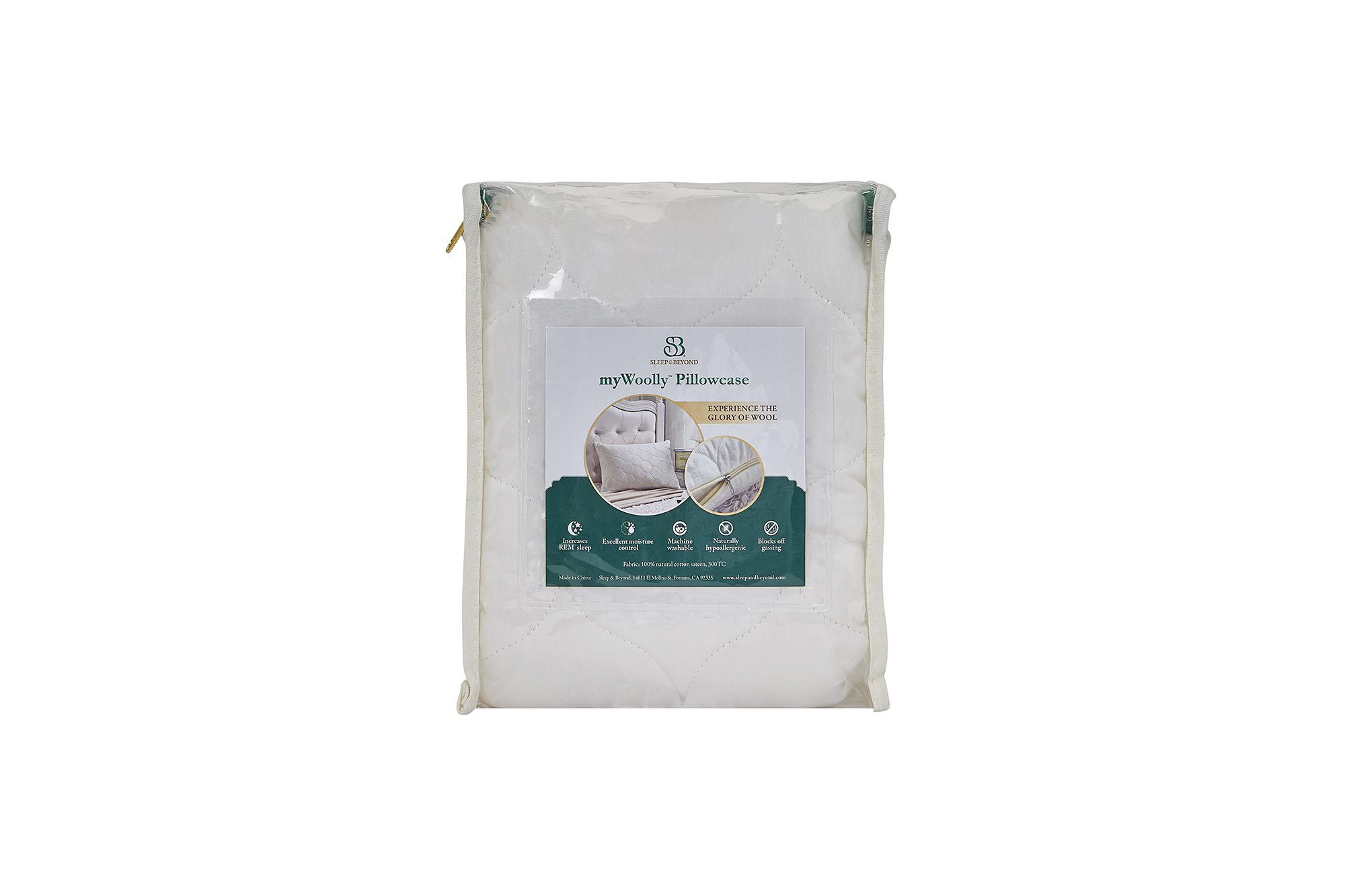 myWoolly Pillow Case Packaging Back