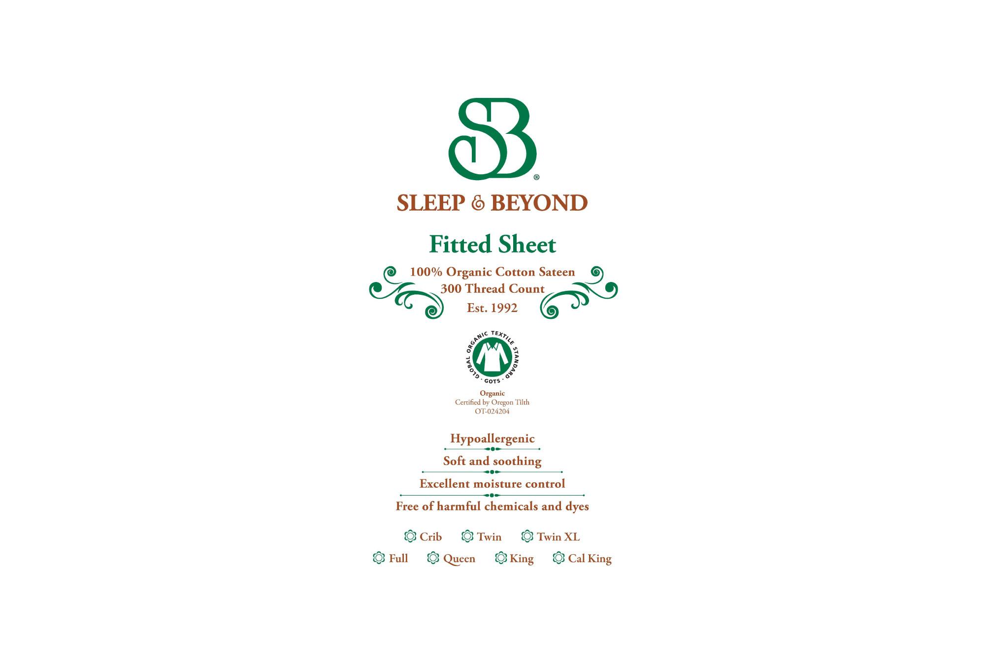 Organic Cotton Fitted Sheet Sleep Amp Beyond