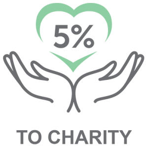 5% to Charity