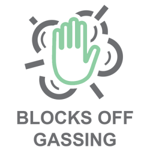 Blocks Off Gassing