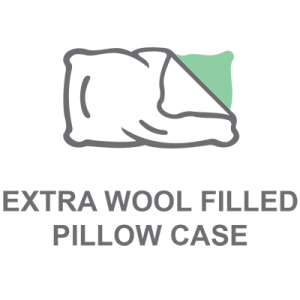 Extra Wool Filled Pillow Case